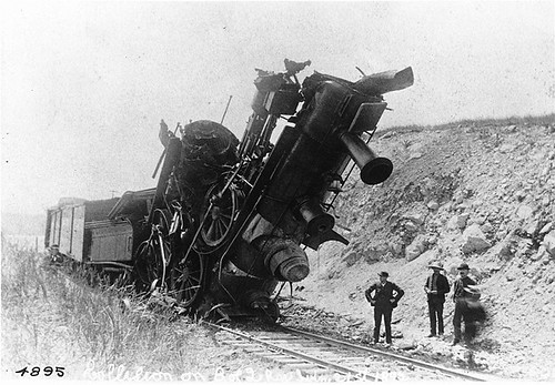 Collision between two engines, Bay of Quinte Railway, ON, 1892 | by Musée McCord Museum