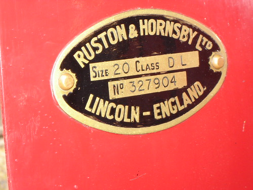 Works Plate From Class 20DL RH 327904