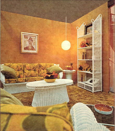 Orange living room design 1970 photo from canadian homes Design m living room free