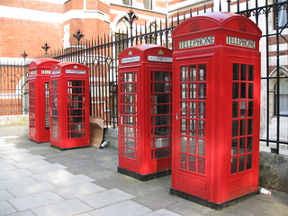 Four red phone boxes London | by Hubbers