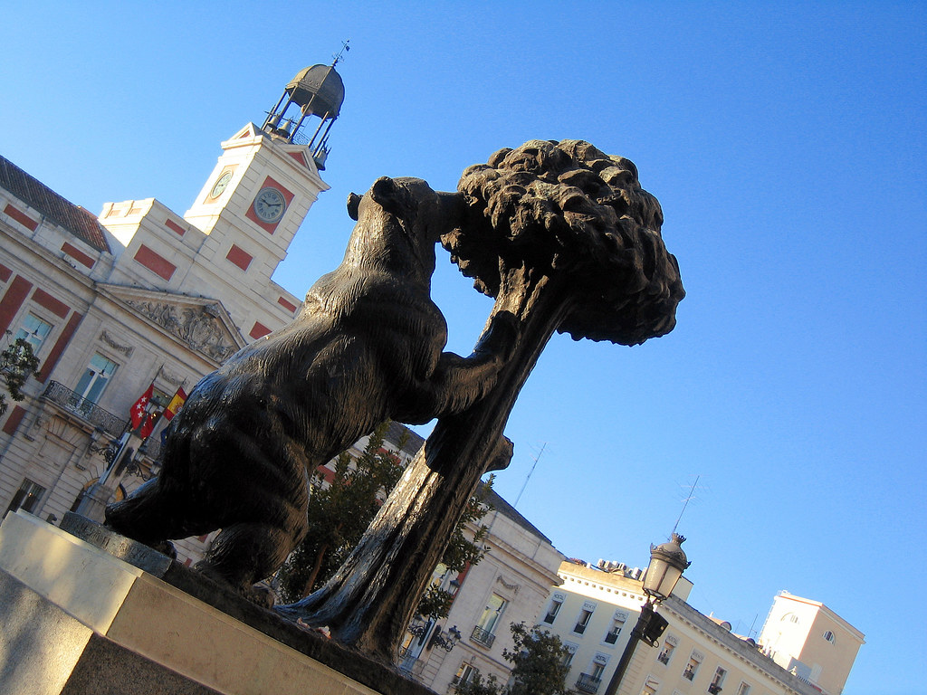 Madrid. Puerta del Sol square. Bear and Arbutus. Spain