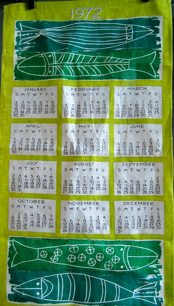 1972 Vera Tea Towel Calendar Ooooh How I Love Vera Scarves Flickr