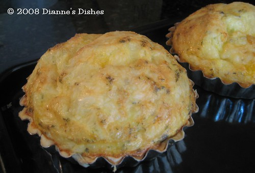 Mini Double Cheese Quiche: Baked | by Dianne's Dishes