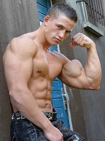 huge biceps 2 | young man showing off his huge bicep