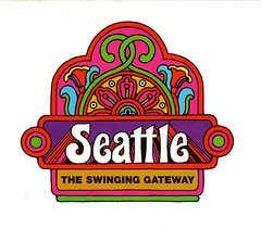 seattle convention and visitors bureau logo 1969 groovy flickr. Black Bedroom Furniture Sets. Home Design Ideas