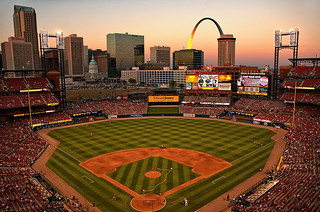 St Louis - Busch Stadium at Sunset | by Express Monorail
