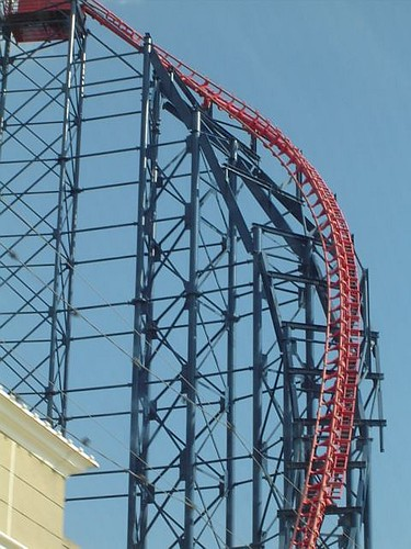 Blackpool Pleasure Beach roller coaster