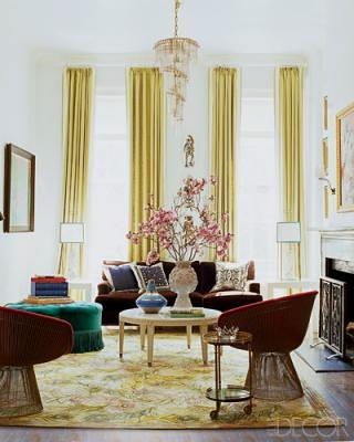 ... Nanette Leporeu0027s Living Room, Featured In Elle Decor | By SarahKaron