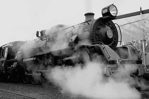 B&W steam train | by Chook with the looks