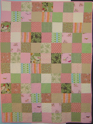 Pink & Green Squares Baby quilt | by alissahcarlton