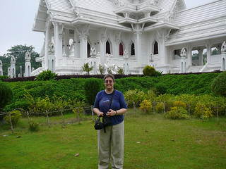 Lumbini--Heidi in front of Thai Temple | by CroDigTap