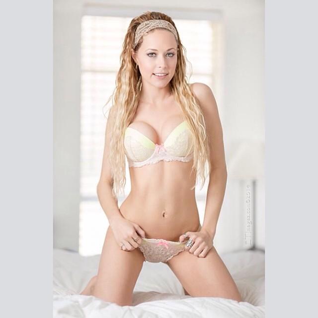 Hot blonde lingerie models