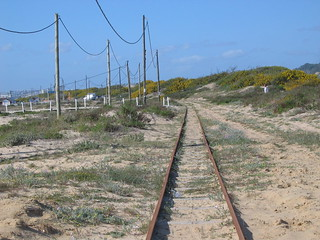 Ancient Caparica railway, looking North | by tiguh
