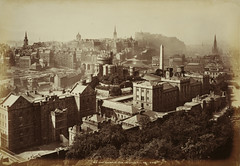 Old Town Edinburgh from the Calton Hill | by National Galleries of Scotland Commons