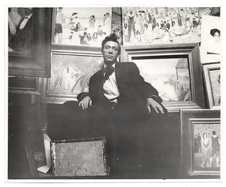 Abraham Walkowitz in his studio with paintings | by Smithsonian Institution