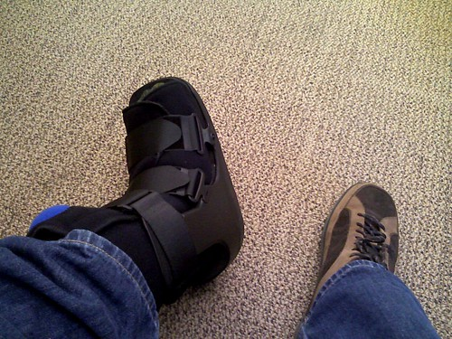 I'm sporting the fancy new walking boot | by Jeremy Gillick