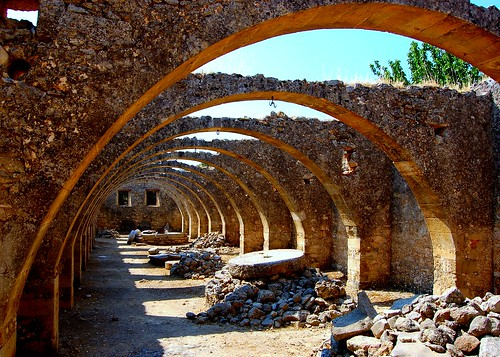 Old olive vaults at St. George's monastery in Karydi on the Greek island of Crete | by Peace Correspondent