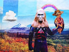 LARRY CARLSON, King of Beasts, collage on paper, 2005. | by LARRY  CARLSON