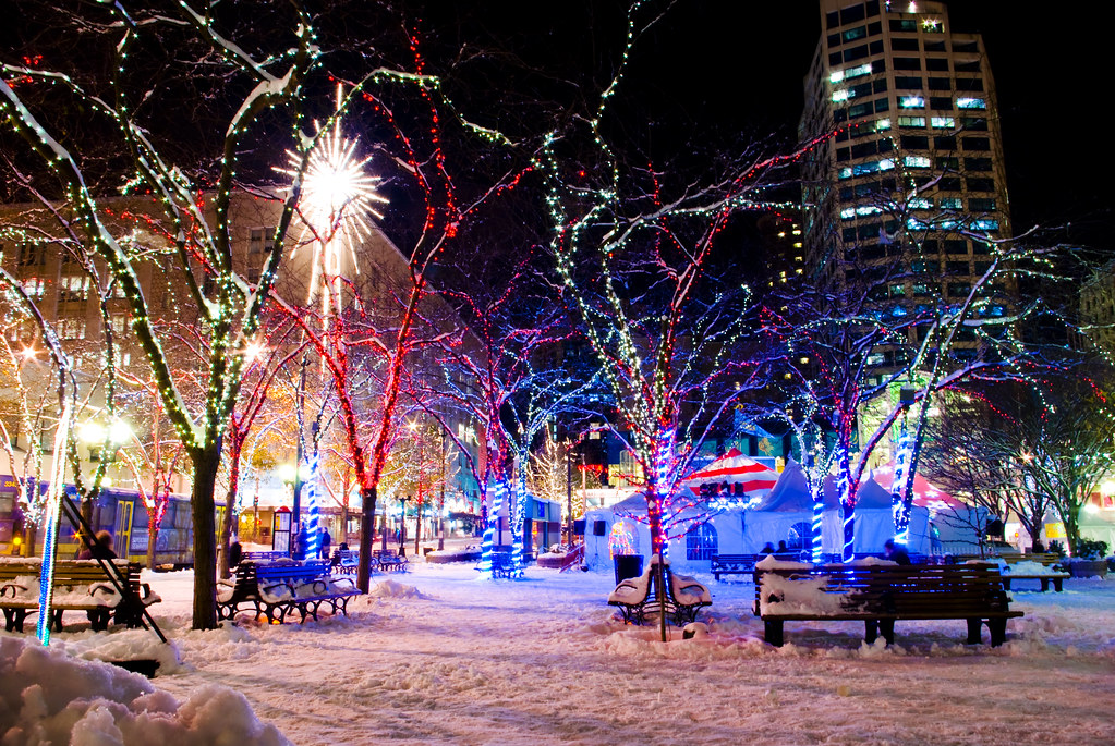 downtown seattle christmas by david r preston photography