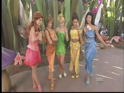 Rosetta, Fawn, Tinker Bell, Iridessa and Silvermist in Pixie Hollow of Fantasyland at Disneyland®, Anaheim, California, 2008.11.04 | by Dr. Disney Wizard