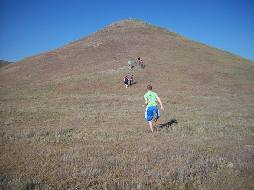 Running up the hill