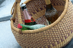basket of wine | by David Lebovitz