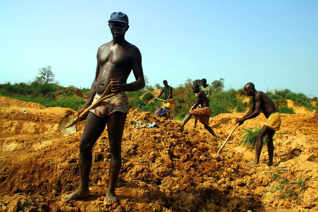Diamond Miners, Tongo, Sierra Leone