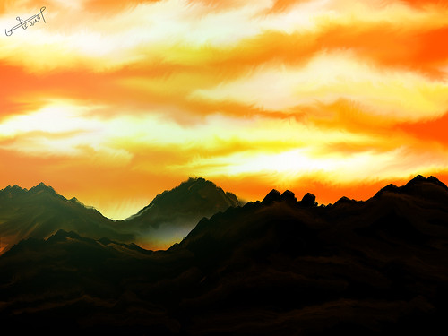 my art in photoshop - sunset | by mohammed abdo