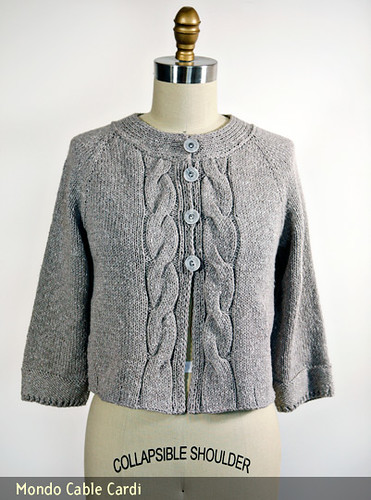 Chic Knits Mondo Cable Cardi | by Bonne Marie