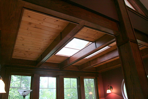 Boxbeam Ceilings | The sunroom has pine tongue-n-groove ...