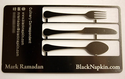 Mark Ramadan's food blog business card | by blacknapkin
