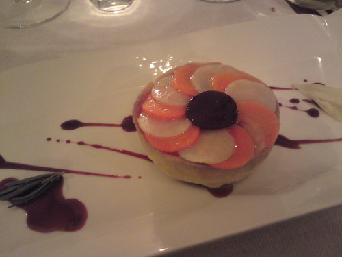 Le Gaigne: Celeriac tartlet with beet and rosemary | by clotilde