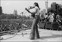 Joan Baez at the War is Over Rally in Central Park, May 1975. | by Yoko Ono official