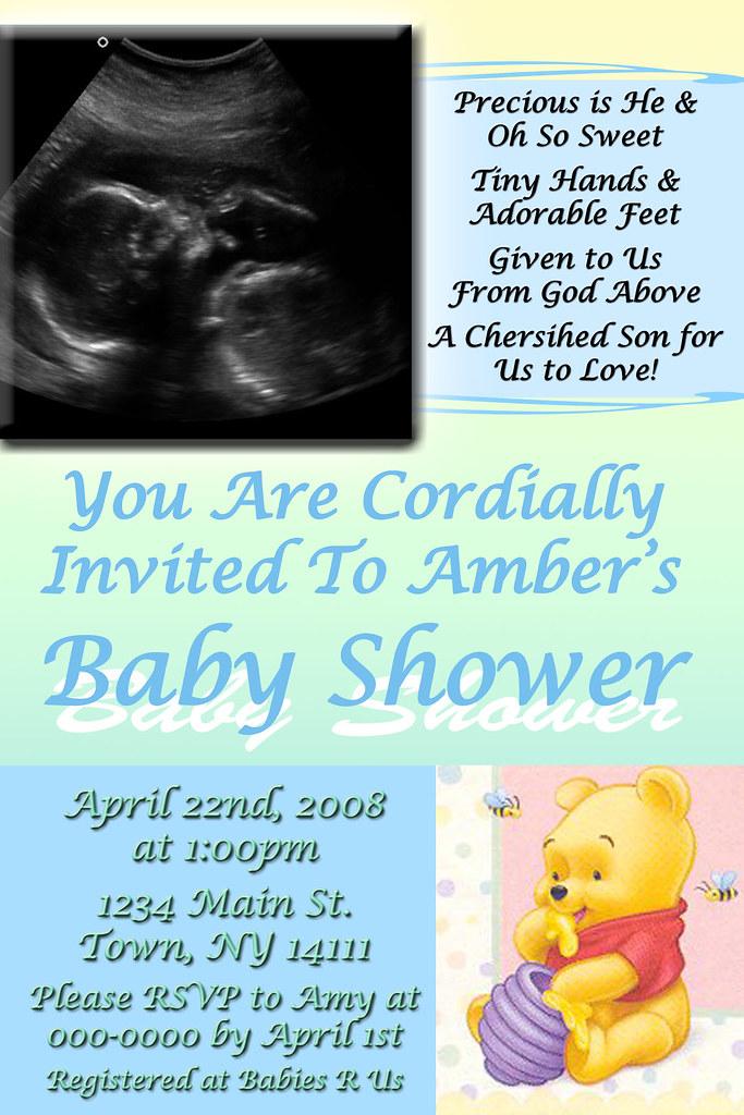 Personalized Sonogram Baby Shower Invitation Winnie the Po… | Flickr