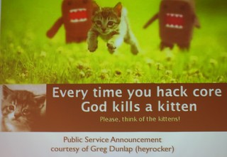 Every time you hack core God kills a kitten | by cocoate.com