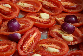 Close up of the tomatoes, pre-roasting | by unertlkm