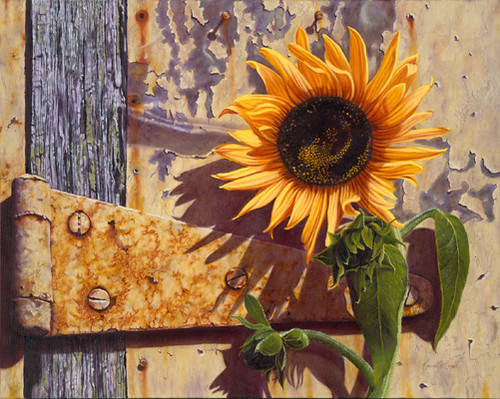 Quot The Old Factory Sunflower Quot Oil Painting By Camille Engel