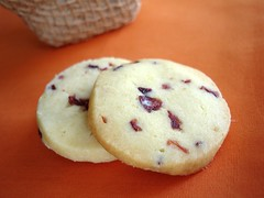 Orange cranberry slice-and-bake cookies / Cookies de laranja e cranberries | by Patricia Scarpin