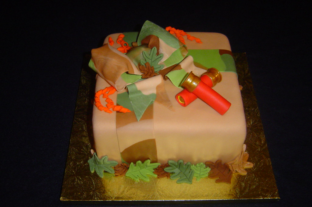 camo bridal shower cake bullets and bows by its all