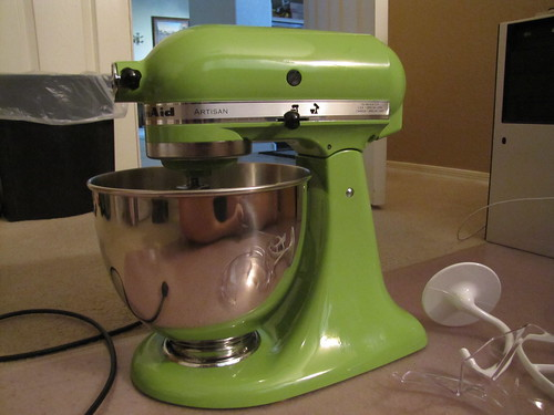 kitchenaid mixer green jadeite cake plate with matching kitchenaid