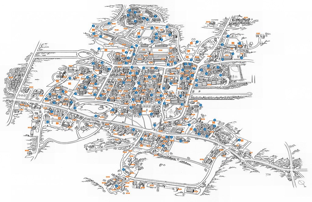 University Of Connecticut Storrs Campus Blue Phone Map Flickr