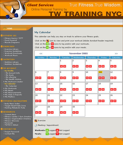 Online Personal Training Workout Calendar  Online Personal  Flickr