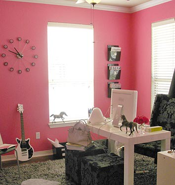 pink home office. Pink Home Office | By Decorology O
