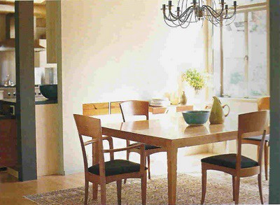... SarahKaron Simple, Beautiful Dining Room: Modern Scandanavian Furniture  + Chandelier | By SarahKaron