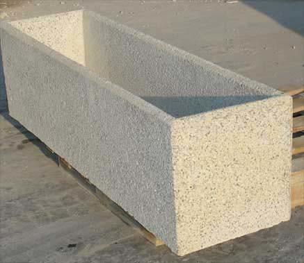 jardinera rectangular de hormigon by urbadep mobiliario urbano - Jardineras De Hormigon