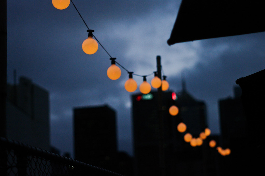lights on a melbourne rooftop after a beer or two with a g flickr