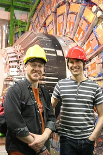 Brian Cox and me at the Large Hadron Collider. | by thebadastronomer