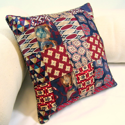 Woven Necktie Pillow Throw pillow made from 10 vintage nec? Flickr