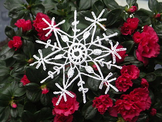 Crocheted snowflake | by littlebusyknitter