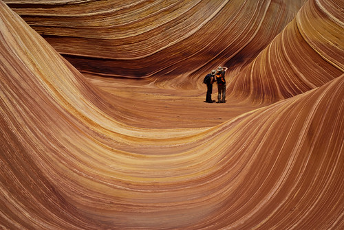 A couple photographing The Wave | by thaths